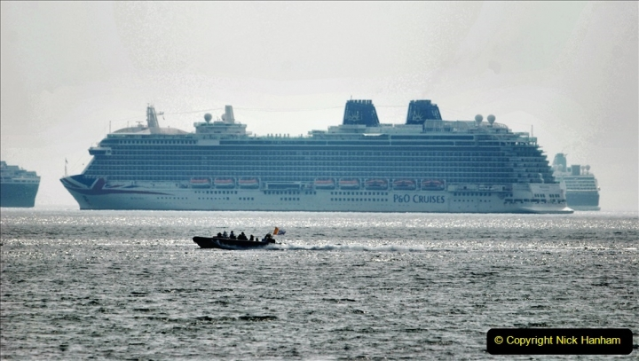 2020-08-10 Cruise ships in Weymouth Bay. (33) P&O Britannia. 165