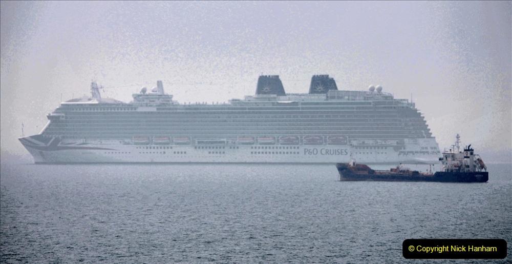 2020-08-10 Cruise ships in Weymouth Bay. (34) P&O Britannia. 166