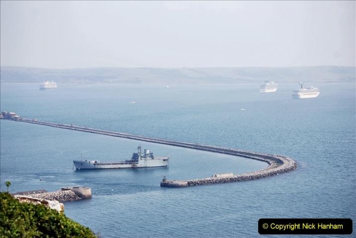 2020-08-10 Cruise ships in Weymouth Bay. (4) 137