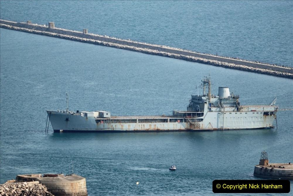 2020-08-10 Cruise ships in Weymouth Bay. (5) RFA Tiderace. 138