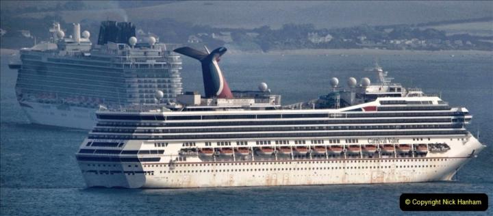 2020-08-10 Cruise ships in Weymouth Bay. (8) Carnival Valor. 141
