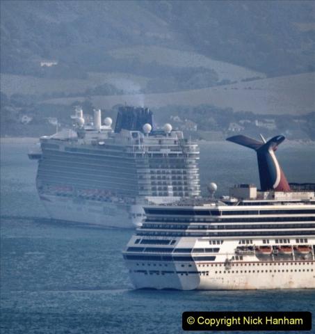 2020-08-10 Cruise ships in Weymouth Bay. (9) Carnival Valor. 142