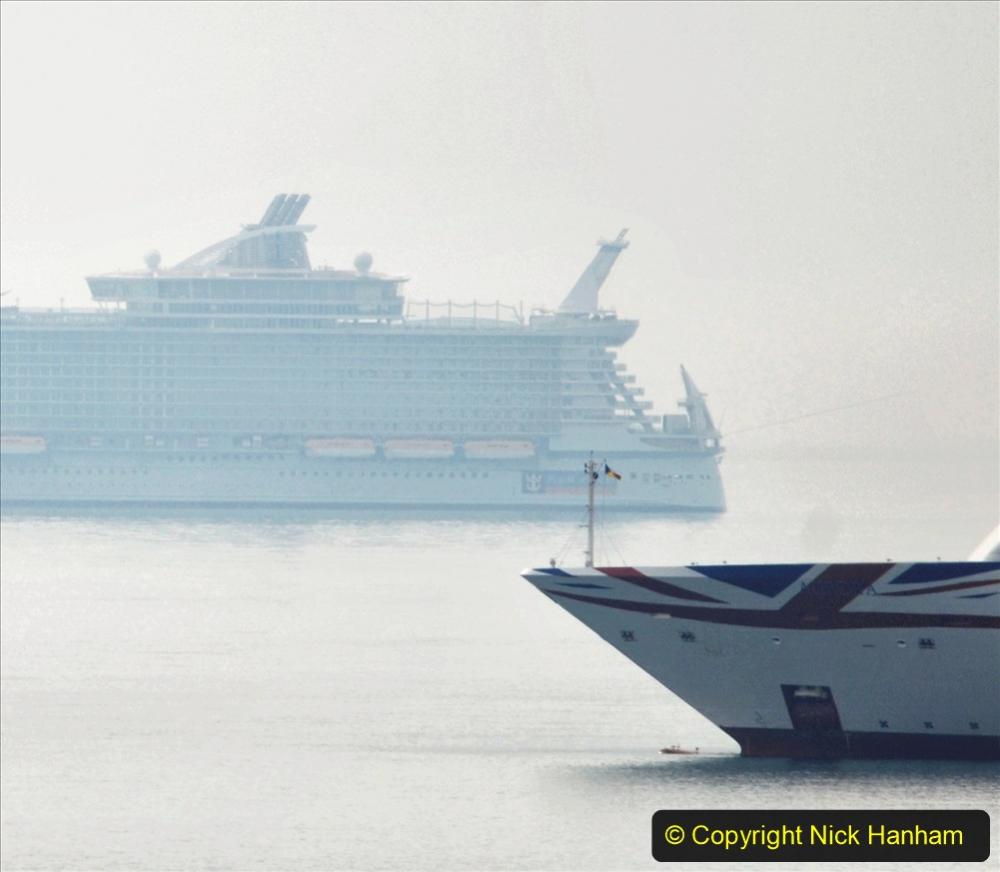 2020-08-13 Poole Bay, Dorset. (2) Royal Caribbean  Allure of the Seas. 169