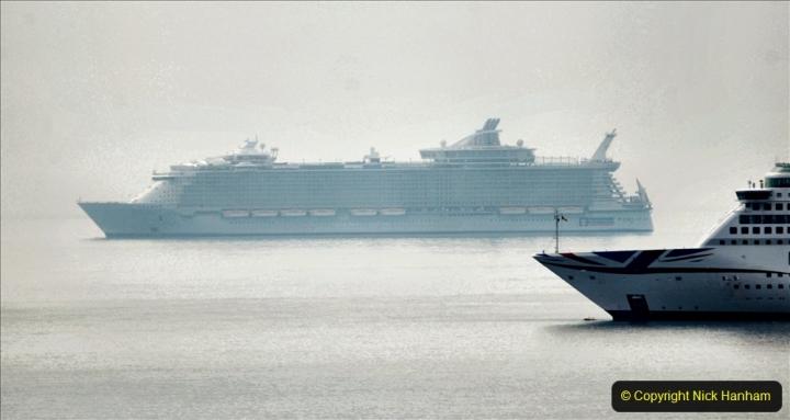 2020-08-13 Poole Bay, Dorset. (3) Royal Caribbean  Allure of the Seas. 170