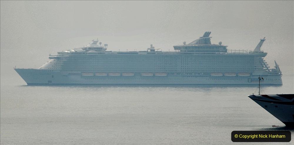 2020-08-13 Poole Bay, Dorset. (4) Royal Caribbean  Allure of the Seas. 171