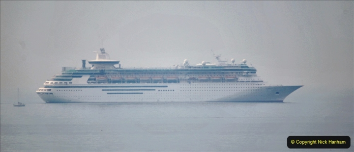 2020-08-13 Poole Bay, Dorset. (6) Royal Caribbean  Majesty of the Seas. 173