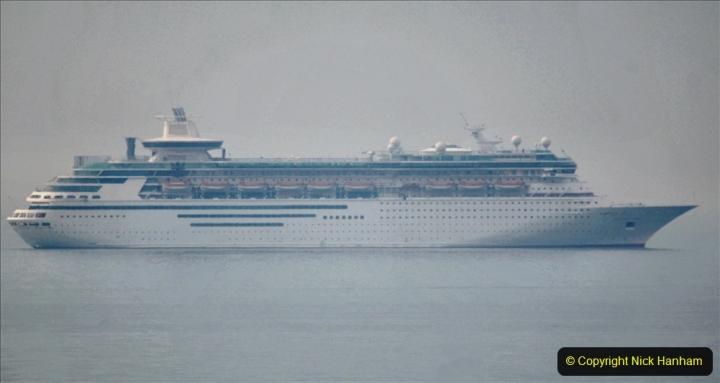 2020-08-13 Poole Bay, Dorset. (7) Royal Caribbean  Majesty of the Seas. 174