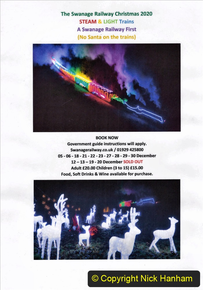 2020-10-15 Swanage Railway Christmas Light and Steam Specials. (13) Your Host's Made up poster. 013