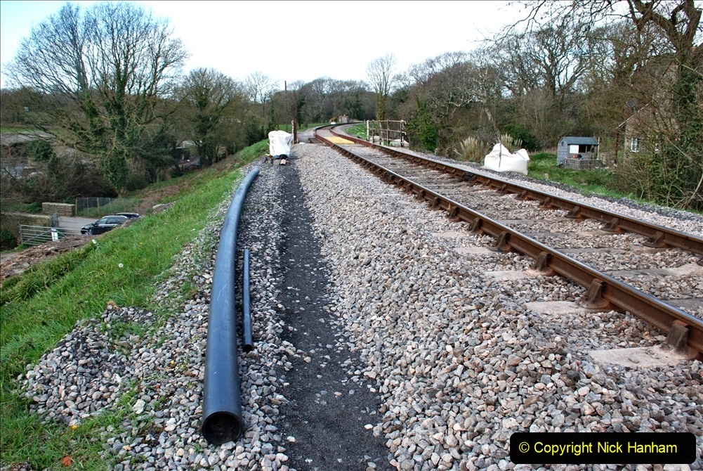 2021-04-03 SR staff training day. (87) Bridge 25 new timbers for rail support and brickwork repairs. 087