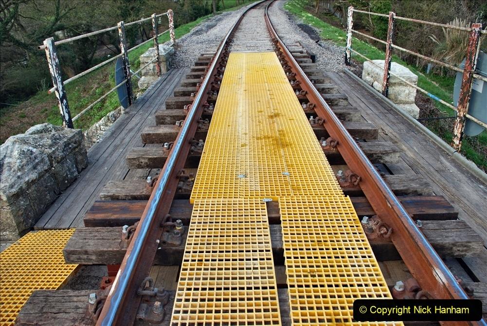2021-04-03 SR staff training day. (90) Bridge 25 new timbers for rail support and brickwork repairs. 090