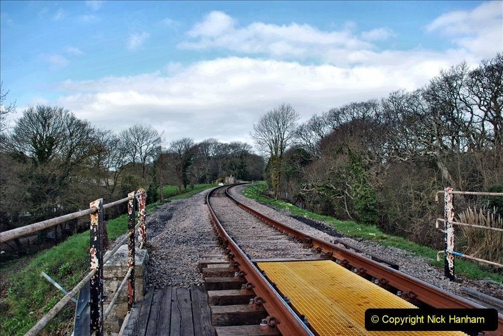 2021-04-03 SR staff training day. (92) Bridge 25 new timbers for rail support and brickwork repairs. 092