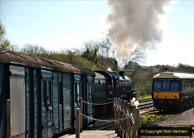 2021-05-10 Corfe Castle. Your Host preping Ticket Printing for Museum Exhibit. (19) 019