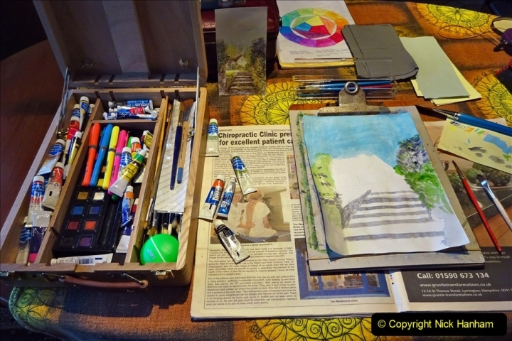2021-01-15 to 24 Your Host doing lockdown water colour painting. (1) 037