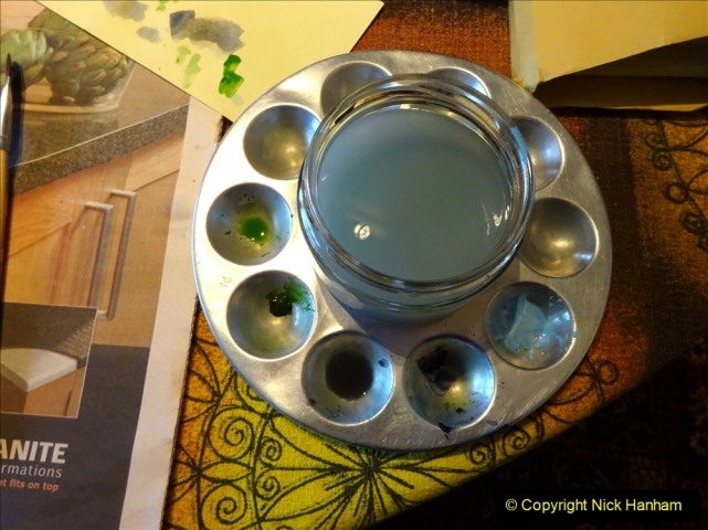 2021-01-15 to 24 Your Host doing lockdown water colour painting. (3) 039