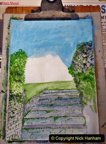 2021-01-15 to 24 Your Host doing lockdown water colour painting. (5) 041