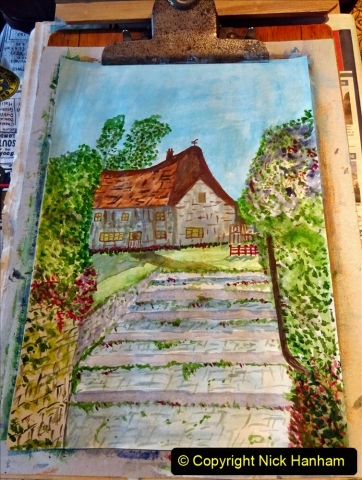 2021-01-15 to 24 Your Host doing lockdown water colour painting. (6) 042