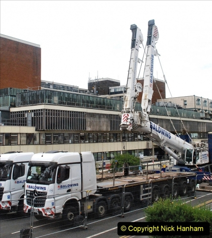 2021-08-01 Poole Hospital Crane Operation. (21) 021