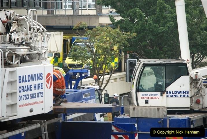 2021-08-01 Poole Hospital Crane Operation. (62) 062