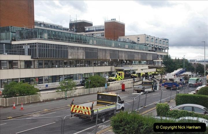 2021-08-01 Poole Hospital Crane Operation. (77) 077