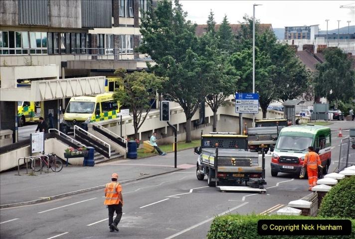 2021-08-01 Poole Hospital Crane Operation. (91) 091