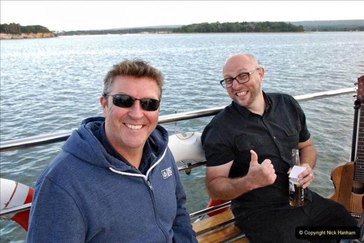 2021-08-14 SR Volunteers & Staff Boat trip & BBQ Poole Harbour & Poole Bay. (70) 070