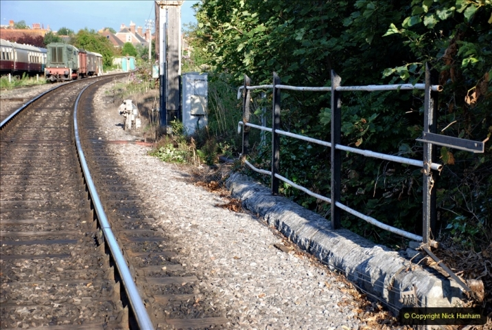 2021-08-27 SR Roads to Rail Bank Holiday Weekend. (38) Bridge 29 is the last one on the branch at Swanage and is ROAD & RAIL.