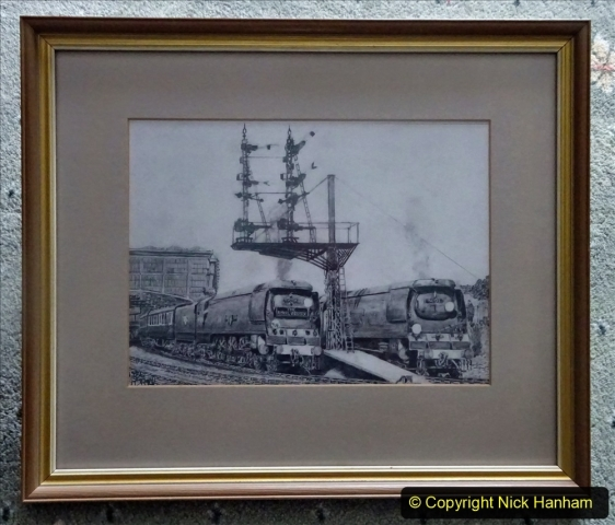 Pictures. (45) Railway worker Malcolm did thei drawing for me in 1986. 045