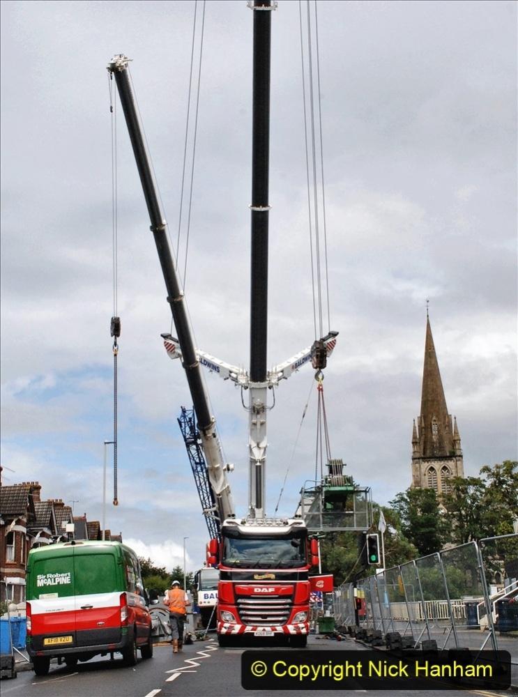 2021 July 30 Poole Hospital Crane Operation!