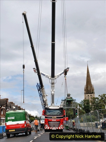 2021-07-30 Poole Hospital Crane Operation. (1) 001