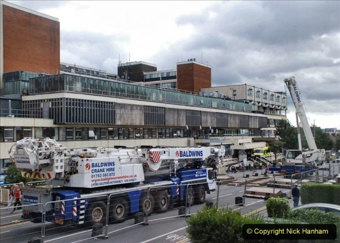 2021-07-30 Poole Hospital Crane Operation. (28) 028
