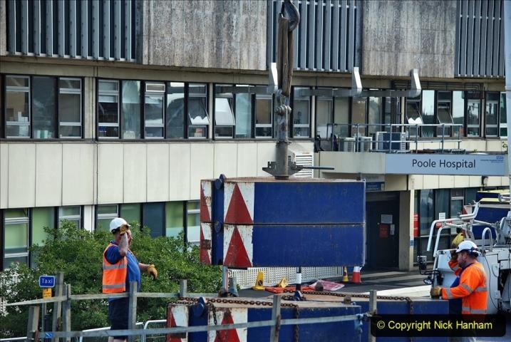 2021-07-30 Poole Hospital Crane Operation. (58) 058