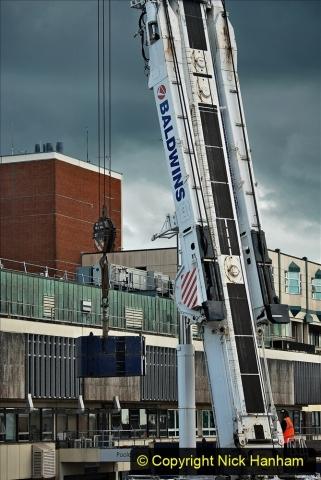 2021-07-30 Poole Hospital Crane Operation. (63) 063