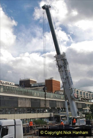 2021-07-30 Poole Hospital Crane Operation. (64) 064