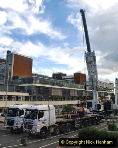 2021-07-30 Poole Hospital Crane Operation. (66) 066