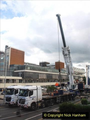 2021-07-30 Poole Hospital Crane Operation. (70) 070