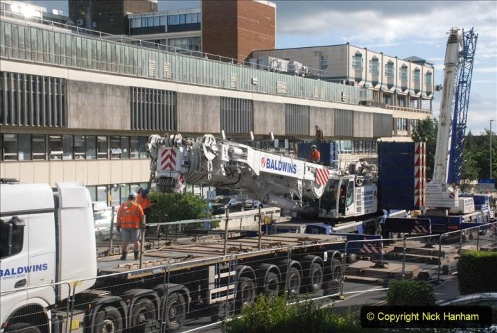 2021-07-30 Poole Hospital Crane Operation. (77) 077