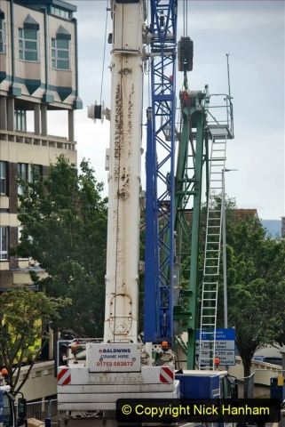 2021-07-31 Poole Hospital Crane Operation. (116) 116