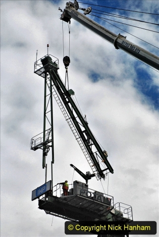 2021-07-31 Poole Hospital Crane Operation. (123) 123