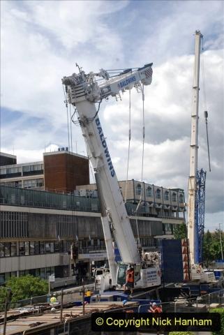 2021-07-31 Poole Hospital Crane Operation. (4) 004