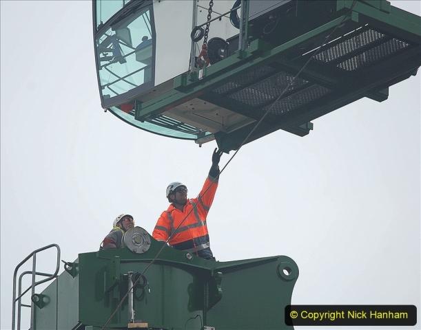 2021-07-31 Poole Hospital Crane Operation. (52) 052