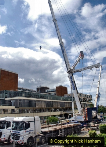 2021-07-31 Poole Hospital Crane Operation. (7) 007