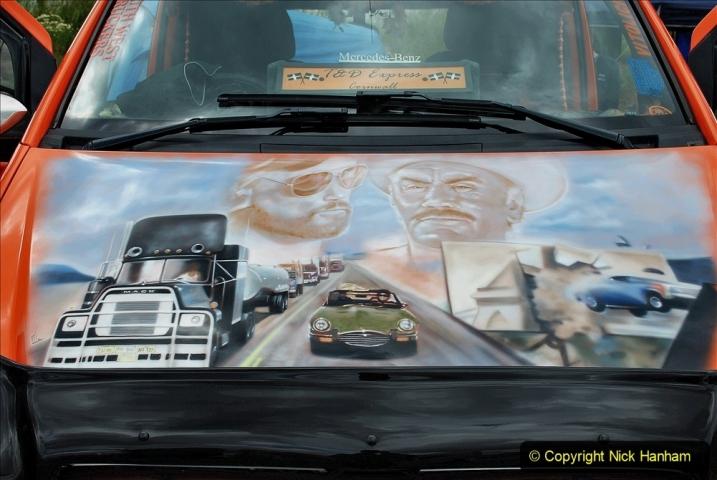 2021-06-26 The Devon Truck Show. (400) Convoy. 400