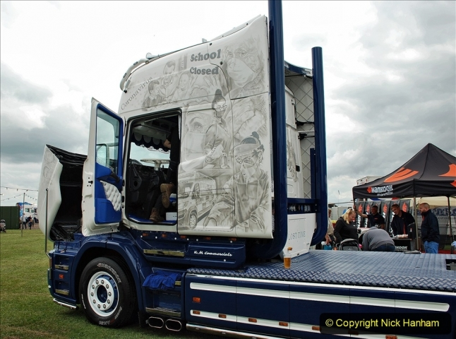 2021-06-26 The Devon Truck Show. (473) NHS TRibute. 473