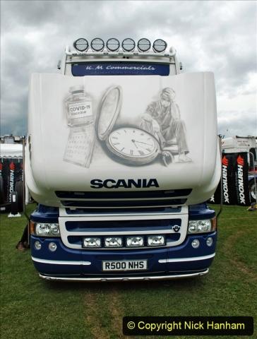 2021-06-26 The Devon Truck Show. (474) NHS TRibute. 473