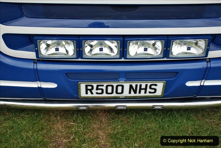2021-06-26 The Devon Truck Show. (475) NHS TRibute. 473