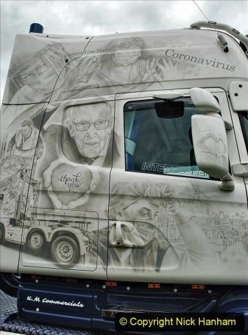 2021-06-26 The Devon Truck Show. (480) NHS TRibute. 473