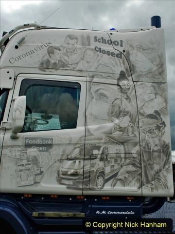 2021-06-26 The Devon Truck Show. (482) NHS TRibute. 473