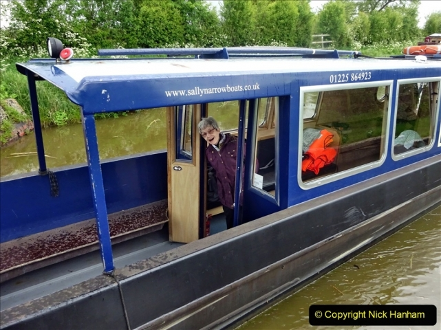 2021-05-19 Wiltshire Holiday Day 3. (105) Kennet & Avon Canal on a Sally Day Boat with friends. 105