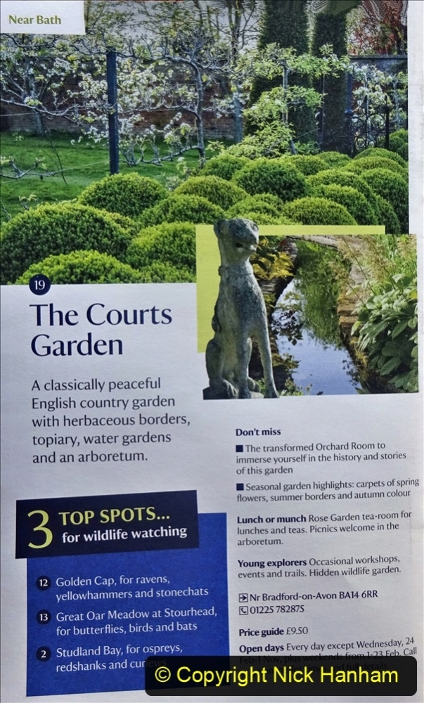 2021 May 20 Wiltshire Holiday Day4 The Courts Garden NT and 21 May Day 5 home to Poole Dorset