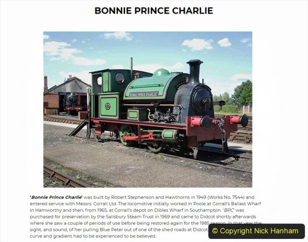 1950s Poole Quay shunting locomotives. (1) Bonnie Prince Charlie. 009